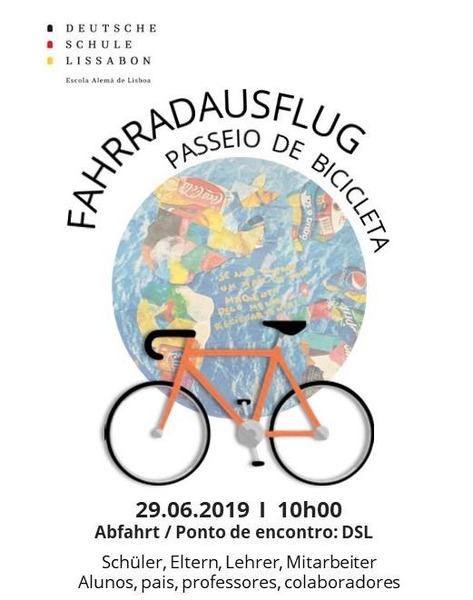 passeio de bicicleta DSL Eco Escolas