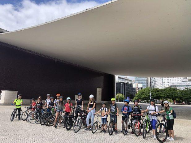 mit dem Fahrrad durch Lissabon